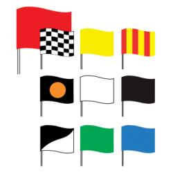 Drapeaux de courses automobile avec motif 60 x 80 cm