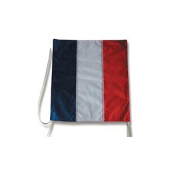 Cache-plaque tricolore