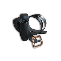 Baudrier en cuir noir - Longueur 1,80 m