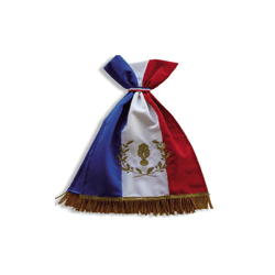 Cravate brodée or grenade et palmes pour drapeaux pompiers