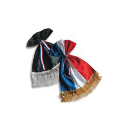 Cravate frangée tricolore