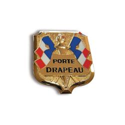 Insigne porte-drapeaux émaillé standard