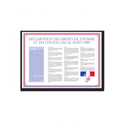 Déclaration des droits de l'homme sur panneau format A4