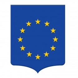 Ecusson porte-drapeaux Europe