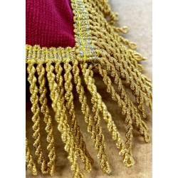 Coussin franges filées or - 35 x 35 cm